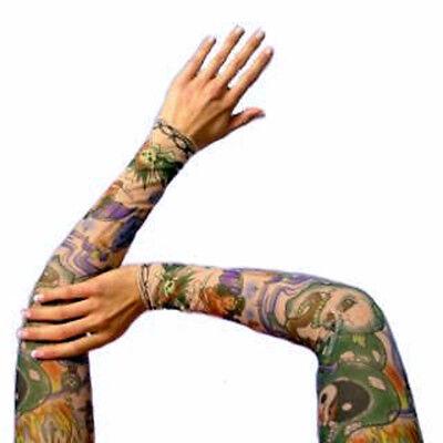 Tattooärmel Tattoostrümpfe Stulpen Ärmel 6 Motive Kostümparty Karneval - Kostüm Tattoos