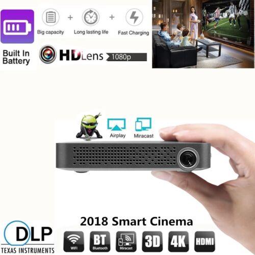 2018 New DLP Android Wifi Smart Video Projector Mini Portabl