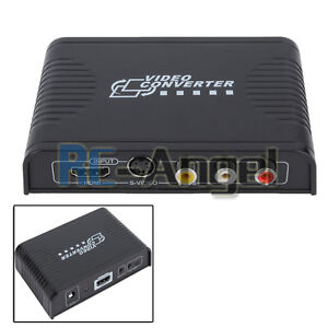Composite 3RCA CVBS AV S-Video Audio to HDMI Converter Adapter 1080p Upscaler