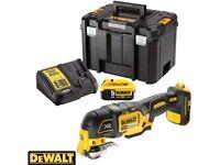 Dewalt DCS355N 18V Brushless Multi-Tool With 1 x 5Ah Battery, Charger & Case Dewalt multi tool 5ah