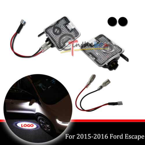 Side Rear View Mirror Puddle Laser Ghost Shadow Lights for 2015-2017 Ford Focus