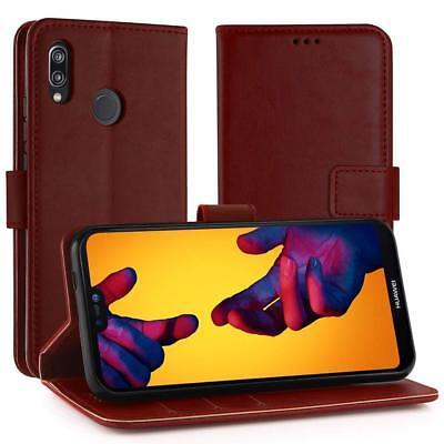 Magnetic Leder Hülle Simpeak Stand Flip Wallet Case Cover für Huawei P20 Lite DE Magnetic Wallet Case