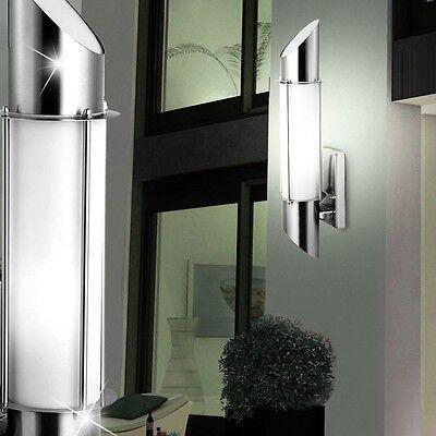 LED Wandlampe Außenbeleuchtung Haustür Strahler Leuchte Edelstahl BxH 13x49,8 cm