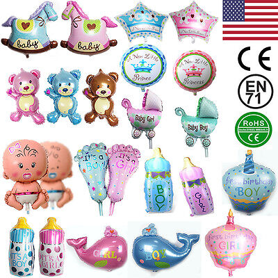 Boy Girl Baby Shower Foil Helium Balloon Christening Birthday Party Decoration - Baby Boy Helium Balloons