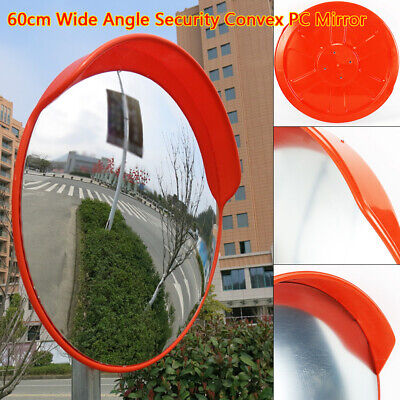 24inch Convex Pc Mirror Security Outdoor Wide Angle Road Driveway Safety Traffic