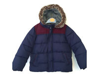 Blue John Lewis boys hooded winter coat - age 2 - 3 years - excellent condition