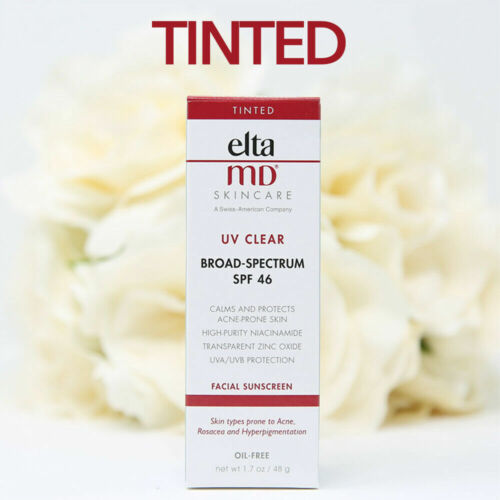 Elta MD UV Clear Broad Spectrum SPF 46 Facial Sunscreen 1.7oz TINTED  NEW FAST