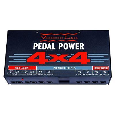 NEW! Voodoo Lab PEDAL POWER 4x4 - Audiophile Quality 9 Volt