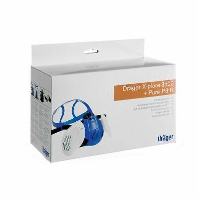 Dräger X-plore 3500 Set (M) + Pure P3 R Staubschutzmaske Staubmaske Atemschutz