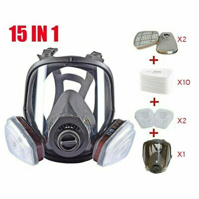 Full Face Gas Mask Painting Spraying Respirator Wfilters For 6800 Facepiece Us