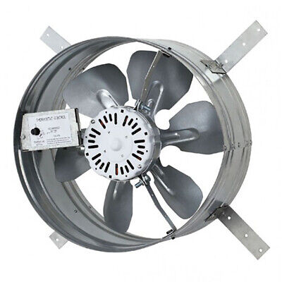 iLiving Automatic Gable Mount Attic 3.1A Ventilator Fan w/ Adjustable Thermostat ()