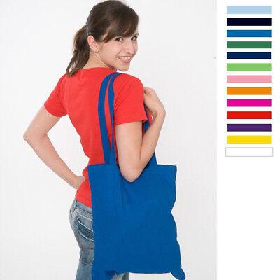 Baumwolle Damen Tasche (Baumwolltasche Tasche Beutel Lange Henkel 38 X 42 CM Stofftasche Tragetasche)