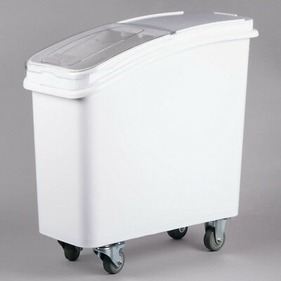 21 Gallon Dry Ingredient Rolling Storage Bin Container Restaurant Flour Bins Nib