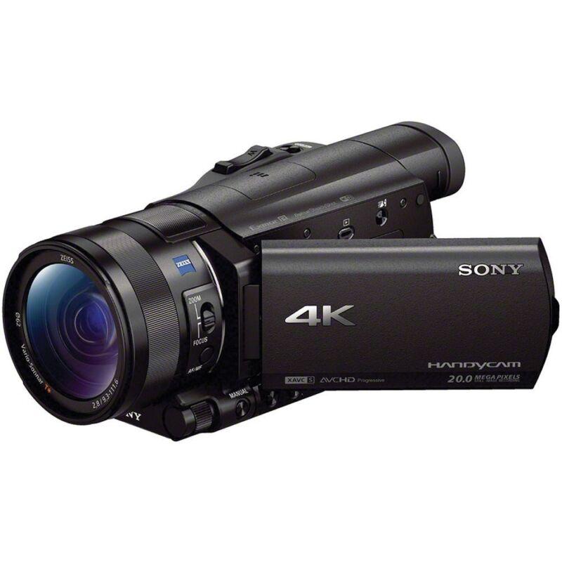 Sony Prosumer AX100 4K HD Flash Memory Camcorder Black FDRAX100/B