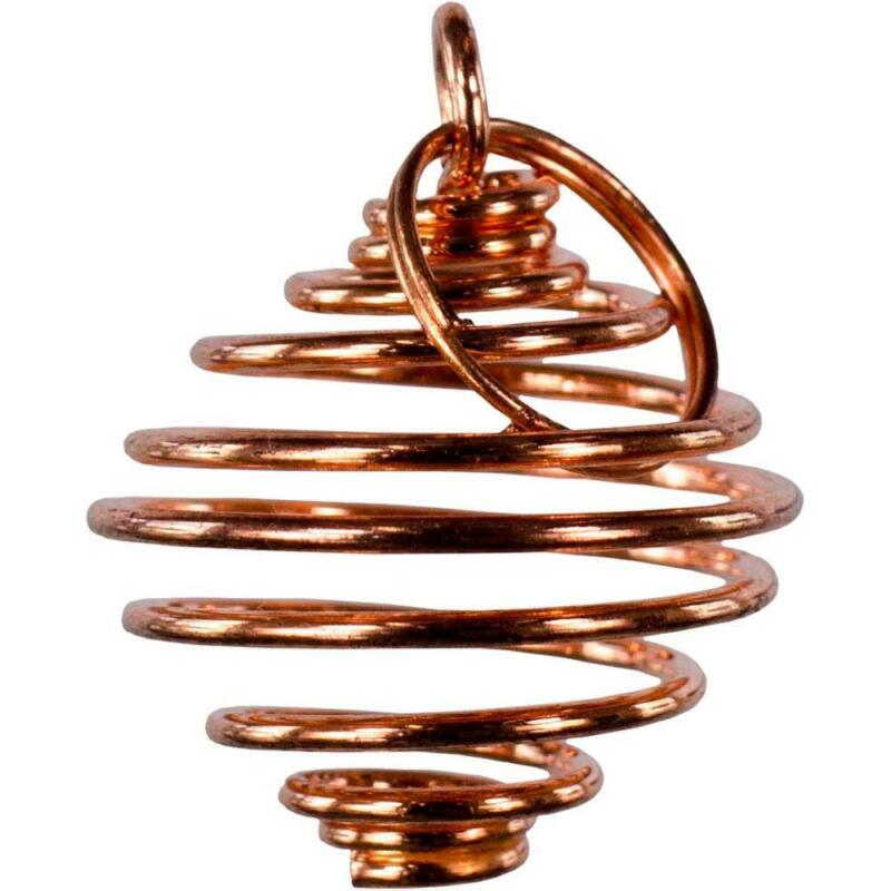 """Small Flexible 3/4 x 1/2"""" Copper Tumbled Stone or Crystal Cage!"""