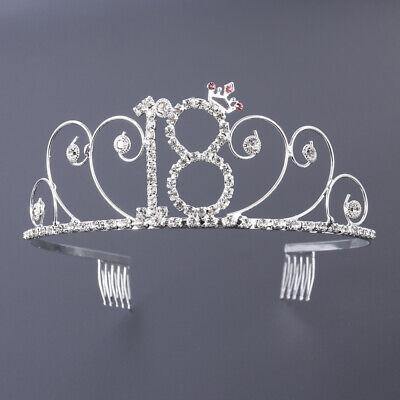 stag Tiara Crystal Hair Band Geburtstagskrone für Mädchen (Geburtstags-krone Für Mädchen)