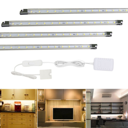 Kitchen Under Cabinet Strip Lighting: 4pcs Under Cabinet Counter Closet LED Kitchen Wall Desk