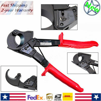 Red Aluminum Copper Ratchet Cable Cutter Wire Cutting Hand Tool Cut Up To 240mm2