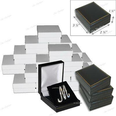 Lot Of 24 Pendant Boxes Black Gift Boxes Showcase Displays Earring Jewelry Box