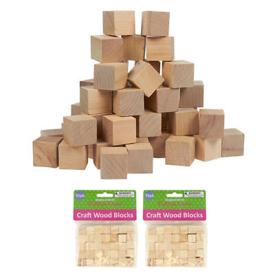 70-piece Natural Wooden Craft Unfinished Hardwood .625
