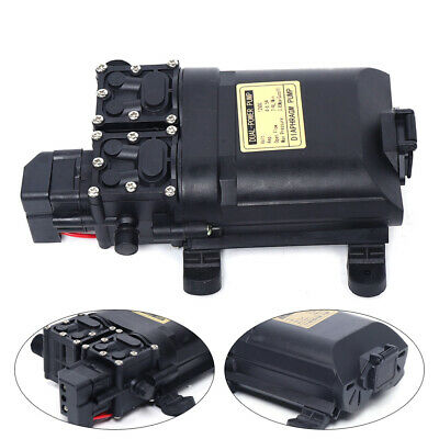New 123psi Electric Diaphragm Water Pump Self Priming High Pressure Dc12v 9lmin