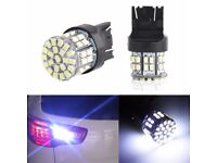 Bright White T20 7443 W21/5W 1206 50SMD Car Tail Turn Braket Parking lamp