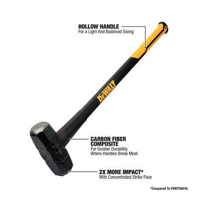 Dewalt 12 Lb. Sledge Hammer With 33.3 In. Fiberglass Handle
