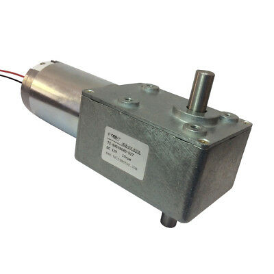 Dc High Torque Worm Reducer Geared Motor 12v Low Speed 10rpm Double Shaft Diy