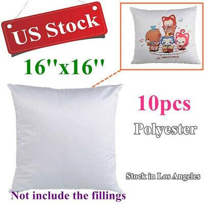 Us Stock 10pcs Plain White Heat Transfer Sublimation Blank Pillow Case Fashion