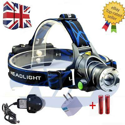 12000LM Zoomable XML T6 LED Rechargeable Head Torch Headlamp Headlight 18650