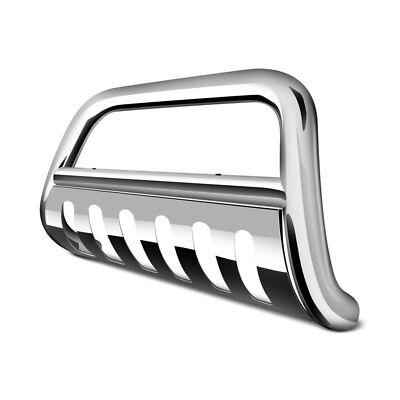 "For Ford F-150 09-14 Tuff-Bar 2-0042 3"" Polished Bull Bar w Brushed Skid Plate"
