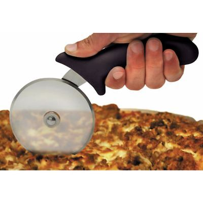 HUBERT Pizza Cutter with Black Plastic Handle Stainless Steel - 4