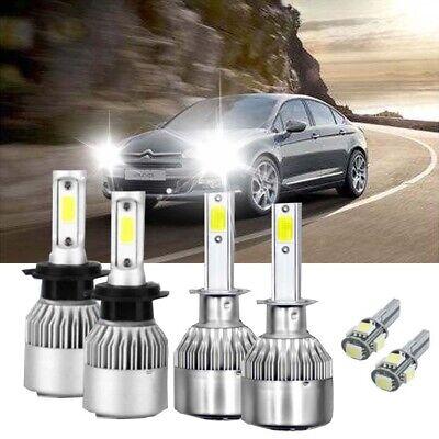 Citroen C3 MK2 100w Clear Xenon HID High//Low//Side Headlight Bulbs Set