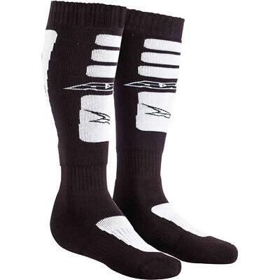 AXO MX Long Socks - Black/White Adult One Size Fits Most Axo Mx Socks