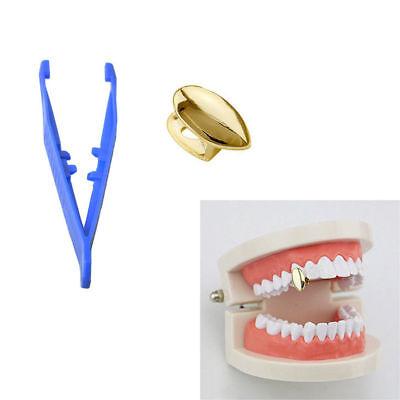 1PCS 14k Gold Plated Fang Vampire Teeth Canine Cap Grillz Hip Hop Dracula Tooth](Vampire Teeth Caps)