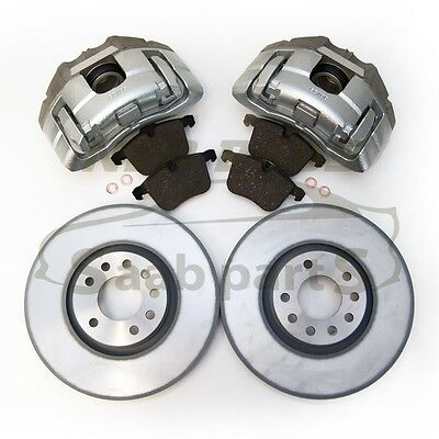 SAAB 9-3 03-12 FRONT BRAKE UPGRADE KIT, NEW PAIR 314MM CALIPERS, DISCS & PADS