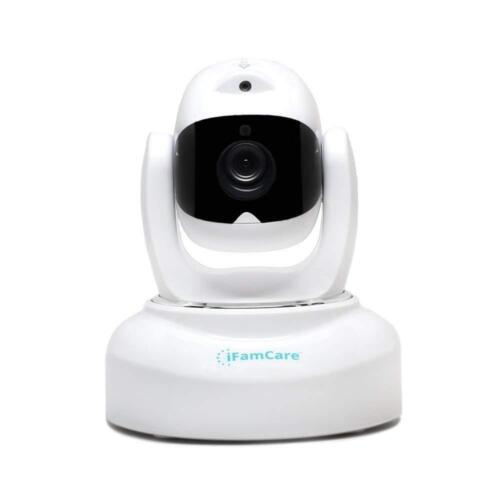 iFamCare Helmet Pan and Tilt Indoor 1080p Wi-Fi Wire-Free Security Camera White 860321000116