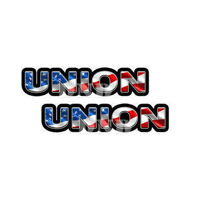 Union Us Flag Lunch Box Hard Hat Tool Box Usa Helmet Sticker 2 Pack 9 Inch