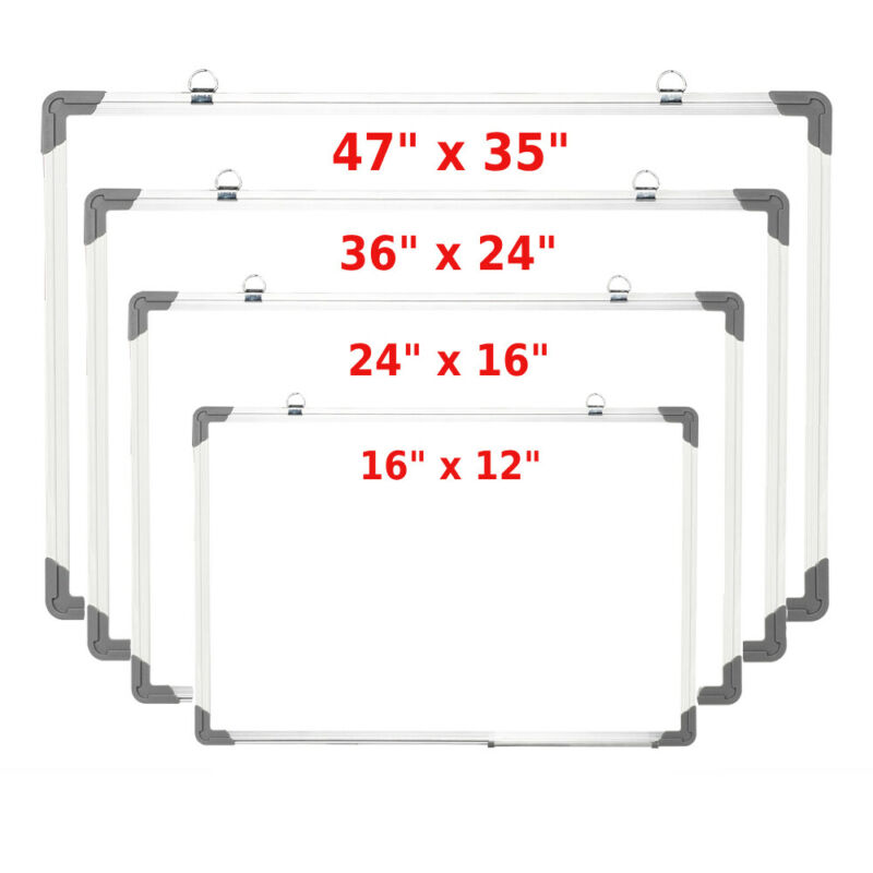 Large Multi-Choices Magnetic Writing Whiteboard Dry Erase Board Eraser Office US