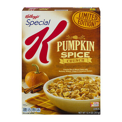 Kelloggs Special K Pumpkin Spice Crunch Cereal Breakfast Limited Free World Ship