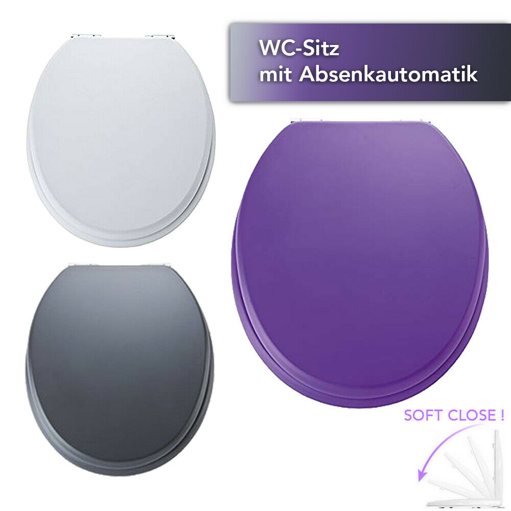 WC Sitz Klodeckel Absenkautomatik Soft Close Toilettensitz Deckel Bad Klo