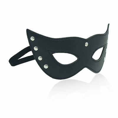 PVC Leather Cat Eye Mask Studded Masquerade For Halloween Fancy Dress Party](Cat Eye For Halloween)