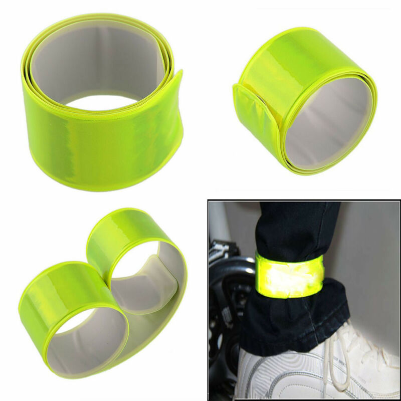 Bike Bicycle Cycling Reflective Safety Leg Pants Strap Beam Band Bottom Belt