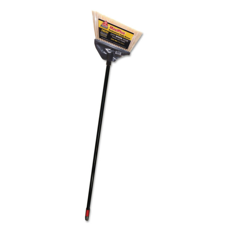 "Diversey Maxiplus Professional Angle Broom, 51"" Handle, Black, 4/ct New"
