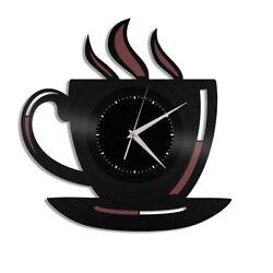 Coffee Cup Vinyl Wall Art Clock Travel Souvenir Home Kitchen Decor Exclusive