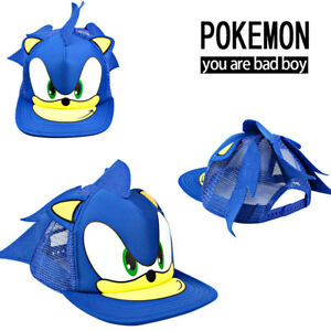 422ec97fb75 Sonic X Hedgehog Beanie Cosplay Costumes Peaked Kids Cap Hat Novelty Gift UK