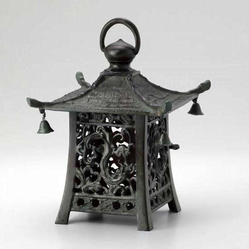Toro Japanese Bronze Hanging Lantern Takaoka Craft Square Dragon 5911 Japan