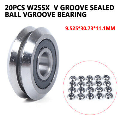 20pcs Rm2-2rs 38 9.52530.7311.1mm V Groove Sealed Ball Vgroove Bearing
