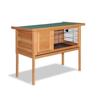 Single Story Rabbit/Guinea Pig Hutch with Hinged Lid