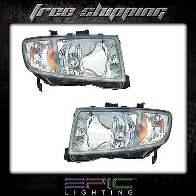 Fits 2006-08 Honda Ridgeline Pickup Headlights Headlamps Pair Left Right Set